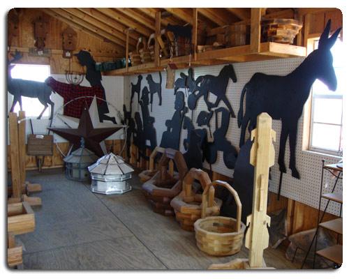 silhouettes, grandma, grandpa, horse buggy, deer, donkey