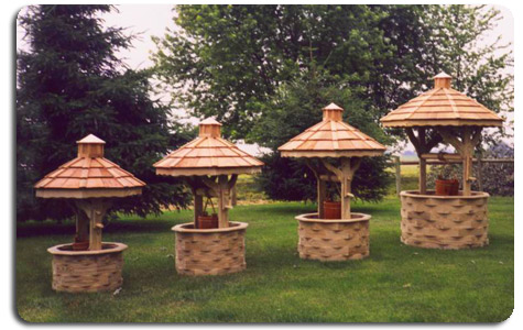 Wooden Free Octagon Wishing Well Plans PDF Plans