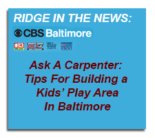 Ridge Cabinet in the News CBS April 2013 Tips for Building a Kids Play Area Baltimore