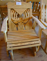 Deer Head Handcrafted Glider Chair