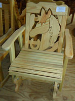 Horse Head Handcrafted Glider Chair