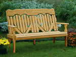 High Back Heart Wood Bench