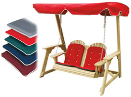 Wood Swing and Optional Cushions