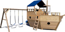 Swing Set and Small Boat Playground Equipment