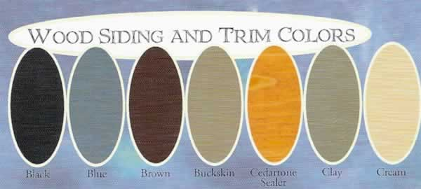 wood siding and trim colors