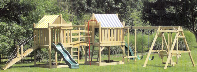 Deluxe Wood Play Systems