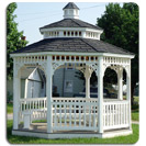 Octagon Gazebo with built in benches