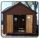 Log Cabin Rear Entrance Double Doors