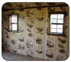 Log Cabin Interior Wall Print