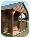 Log Cabin Front Porch