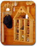 Wood Baseball Hat Rack - Bat and Ball Holder Shelf