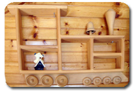 Train Shadow Box Shelf