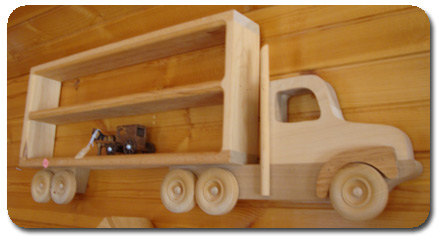 Child's Truck Shelf