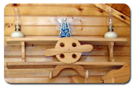 Child's Wood Train Shelf Shadow Box
